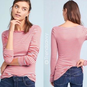 NWT ANTHROPOLOGIE Newport Boat Neck Tee Size L